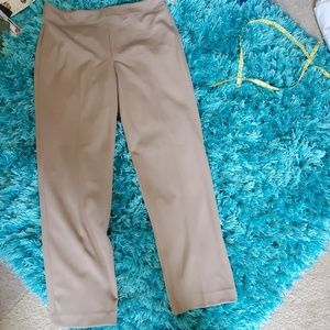 new tan talbots heritage side zipper pants sz 12